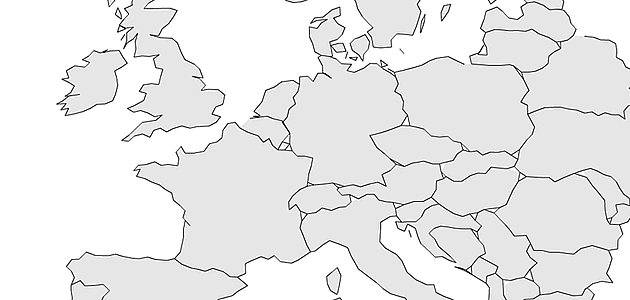 World Map Blank With Countries Border.  there is one case we forgot which I call three country crossings means all points that lay on more than two borders Simplification of Country Outlines